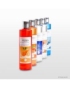 Aromatisches Massageöl in verschiedenen Duftnoten
